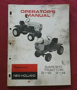 1971 SPERRY RAND NEW HOLLAND S-12 S-14 LAWN GARDEN TRACTOR OPERATORS MANUAL
