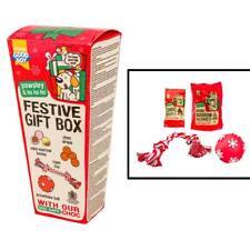 Good Boy Pawsley DOG FESTIVE GIFT BOX Puppy Christmas Choc Treats Toys Ball 4pc
