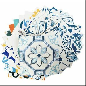 Wall Tile Stickers Victorian Mosaic Style Self adhesive Tile Stickers pack of 10