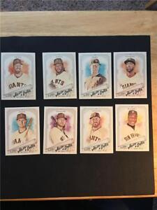 2018 Topps Allen & Ginter San Francisco Giants Base Team Set 8 Cards