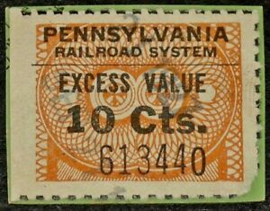 1927 Pennsylvania Railroad System 10c Excess Value Tax Revenue Steamship Wharf
