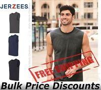 JERZEES Mens Blank Dri-Power Active Sleeveless 50/50 T Shirt 29SR up to 3XL