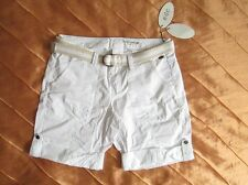 EDC BY ESPRIT PLAY TURN UP CARGO FREIZEIT SHORTS BERMUDA WHITE WEISS M, 38 NEU