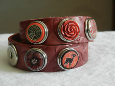 Original NOOSA Amsterdam Armband zweifach Gr.S mit 5 CHUNKS