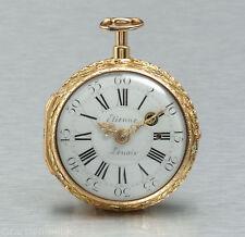 Uhrmacher für Mme Pompadour Etienne Lenoir Paris 1750 Gold Spindeluhr Repetition