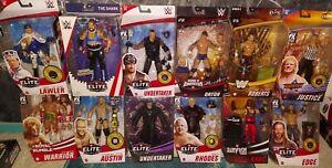 WWE ELITE LOT UNDERTAKER WARRIOR KANE STONE COLD MORE MATTEL WRESTLING FIGURES