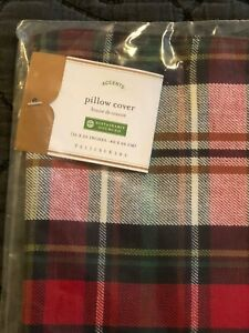 Pottery Barn NEW Declan Plaid Pillow Cover 16x26 Christmas