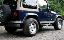 97-06 Jeep TJ Wrangler Short Corner & Rocker Guard Kit - Diamond plate VERY NICE