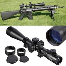 Rifle Scope 6-24x50 Tactical Mil Dot Ir Red illuminated Reticle Hunting w/ Mount