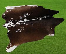 "New Cowhide Rugs Area Cow Skin Leather 17.01 sq.feet (49""x50"") Cow hide U-8317"