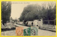 cpa Rare 77 - CLAYE SOUILLY (Seine et Marne) Rue de l'ÉGLISE Attelage