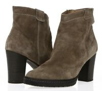 BIALA Womens 'Kelsey' Gray Suede Leather Short Ankle Booties Shoes Size 40