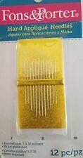 Fons & Porter Hand Applique Needles 12/Pkg - Size 7, 9 & 10 (7745)