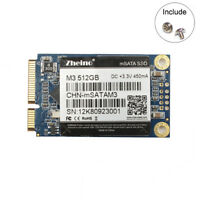 Zheino M3 MSATA3 512GB SSD 3D NAND Solid State Drive For Mini Pc and Ultrabooks