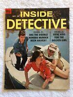 Vintage INSIDE DETECTIVE Magazine September 1963 Boat Kidnap ROBERT SCOTT Cover