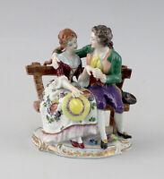 8640071 Porzellan-Figur Rokoko-Paar Älteste Volkstedt Thüringen