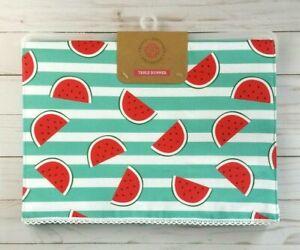 Table Runner Watermelon Summer Stripes 14x72