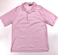 Bobby Jones Players Pink Striped Polo Golf Shirt XL