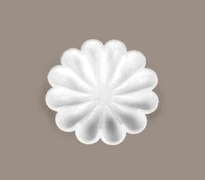 "9"" Decorative Marble Flower Bowl, Fruit Bowl, Handcarved White Marble Bowl, Deco"