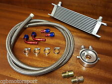 UNIVERSAL OIL COOLER KIT SANDWICH BRAIDED STAINLESS STEEL HOSES M20 3/4 16 2M