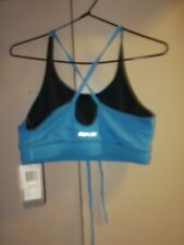 REEBOK WOMENS BRA TOP BLUE BLACK SIZE LARGE  **50% PRICE REDUCED