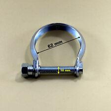 Auspuffschelle  für Katalysator , Abgasrohr , Hosenrohr ,   Schelle M10 Ø 62 mm