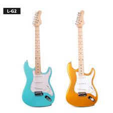 Beginner 3 Single Pickup Electric Guitar Bright Metallic Solid Wood Alder Wood