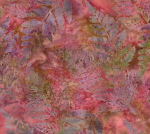 Hoffman Batik Fabric Bali Chop Ferns Leaves K2440-366 Quilt Shop Quality Cotton