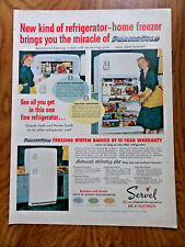 1952 Servel Electric Gas Ad  Refrigerator Home Freezer Miracle of Permacold