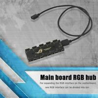 Motherboard RGB Synchronization HUB Splitter 1 to 10 RGB SYNC Extension Cable UK