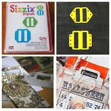 Sizzix Die Tabs Rectangle & Triangle File Folder Tab Scrapbook Diecut Crafts NEW