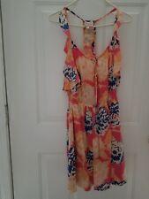PLENTY by TRACY REESE Floral Razorback Silk Dress Size P *EUC*