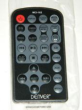 NEW NEUF Télécommande Remote control DENVER MCI-102