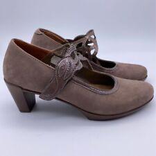 Naot Womens Mary Jane Shoes Brown Hook Loop Block Heels Classic Pumps 6 EUR 37
