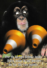 Implants - Funny Humour Card - L ~ FREE POSTAGE UK
