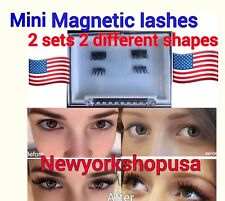 2 Sets 2 Different Shapes Mini Magnetic Eyelashes 3D  magnet Extension lashes