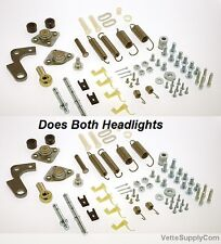 Pair C3 Corvette Headlight Restoration Kits springs bearings adjusters  3938x2