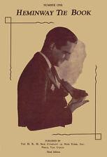Heminway Vintage Pattern Book of Men's Crochet Silk Neckties c.1920