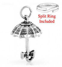 STERLING SILVER UMBRELLA CHARM WITH ONE SPLIT RING