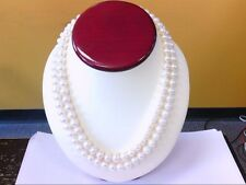 """Littman Jewelers 18"""" Double Strand Freshwater 8- 9mm Pearl Sterling Necklace."""