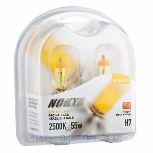 H7 Nokya Hyper Yellow Car Halogen Headlight Fog Light Bulb S1 NOK7616 Low Beam