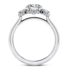 Three Stone 1.15 Carat VS2/J Round Cut Diamond Engagement Ring White Gold 14k