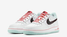 Nike Air Force 1 07 LV8 White Flash Crimson Atomic Pink DD7709 100 Size 4Y-7Y