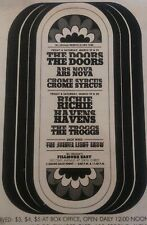 The Doors Concert Ad 1968 @ Fillmore East 2nd week open, only show, plus more