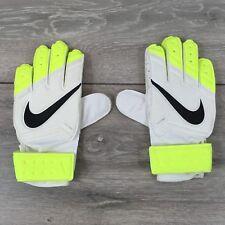 Nike GK Match GoalKeeper Football Gloves 7-9 Yrs Kids  Size 4 White Volt T363-13