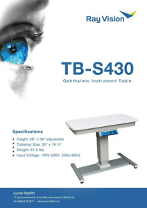 "Optical Motorized 2 Instrument Power Table Adjustable 35""x 18½"" TB-S430"