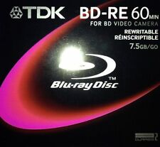 TDK Rewritable Blu-ray Disc BD-RE75A,8cm,7.5GB,Camera,for BD Video Camera