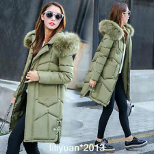 2017 Women winter coat Down jacket Ladies fur hooded jackets Long puffer parka