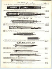 1925 PAPER AD Wahl Fountain Pen Gillette Safety Razor Big Fellow Traveler Boston