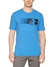 Under Armour * UA Fast Left Chest Logo Blue T Shirt Charged Cotton Heatgear Men